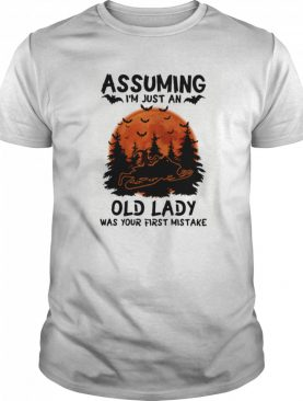 Assuming I'm Just An Old Lady Was Your First Mistake Snowmobile Halloween shirt