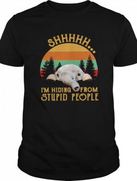 Elephant I'm Hiding From Stupid People Vintage shirt