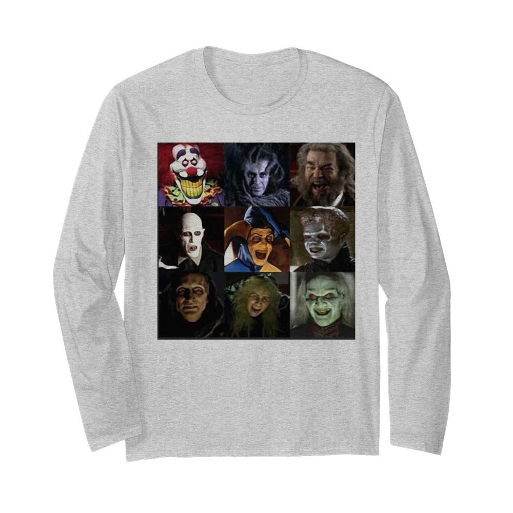 Halloween horror characters face  Long Sleeved T-shirt