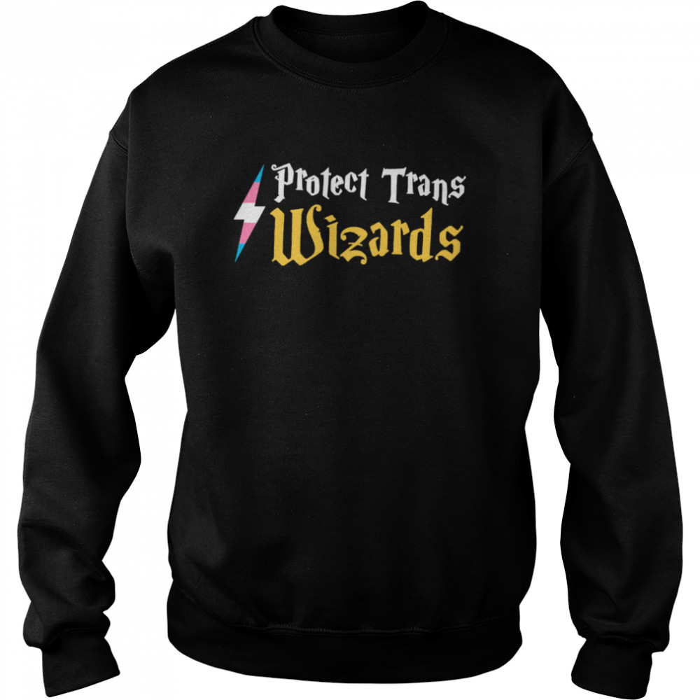 Harry Potter Protect Trans Wizards  Unisex Sweatshirt