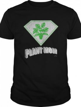 Plant Mom Super Hero Halloween Costume Monstera Deliciosa shirt