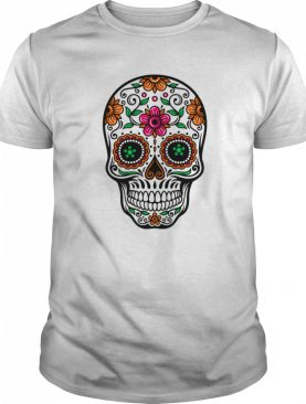Sugar Skull And Retro Flowers Day Of The Dead shirt