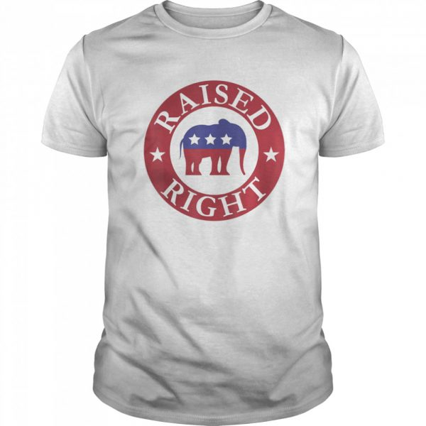 Raised Right Vote Donald Trump Republican Elephant shirt