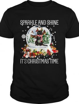 Cat Sparkle And Shine Its Christmas Time shirt