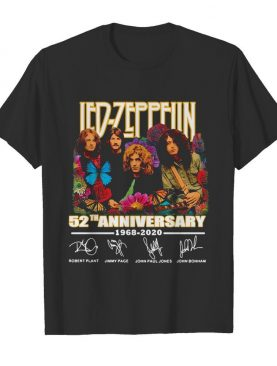 Led Zeppelin 52th Anniversary 1968 2020 Signatures shirt