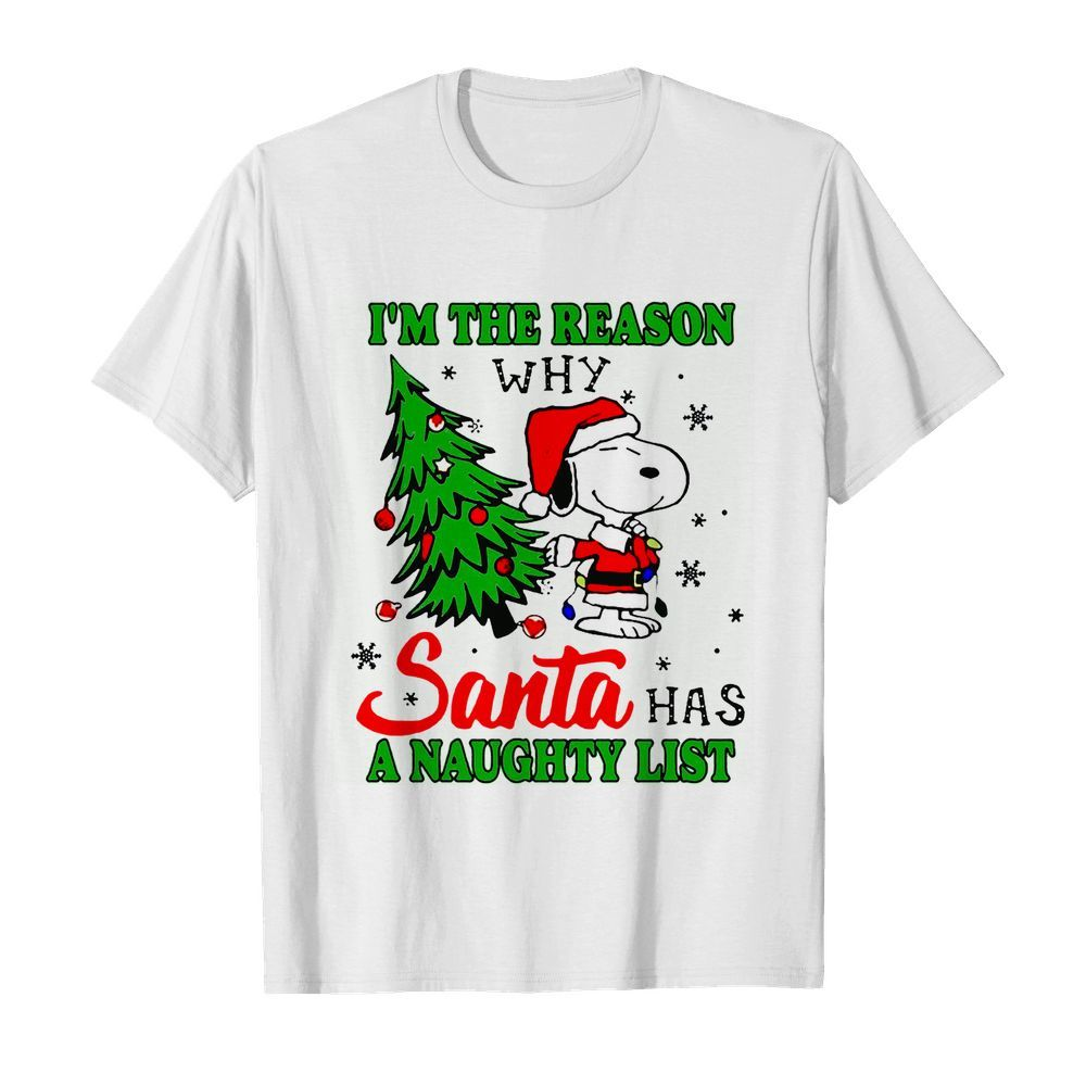 Snoopy im the reason why santa has a naughty list Christmas  Classic Men's T-shirt