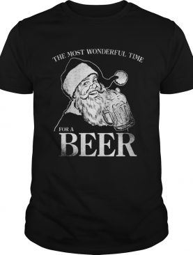The Most Wonderful Time For A Beer Christmas Drinking shirt