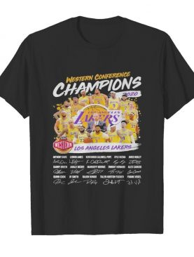 Western Conference Champions 2020 NBA Los Angeles Lakers signatures shirt