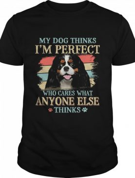 Cavalier King Charles Spaniel my dog thinks Im perfect who cares what anyone else thinks shirt