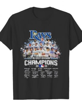 Tampa Bay Rays al east division champion 2020 signatures shirt