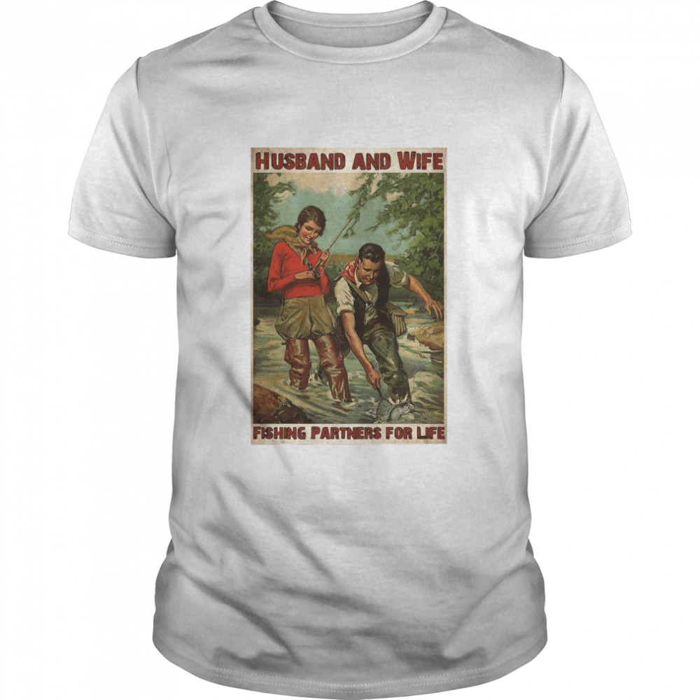 Husband And Wife Fishing Partners For Life  Classic Men's T-shirt