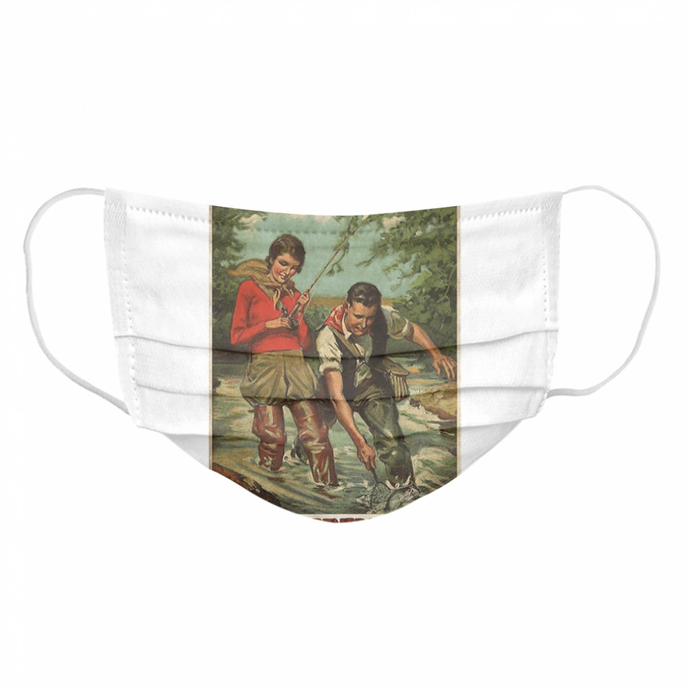 Husband And Wife Fishing Partners For Life  Cloth Face Mask